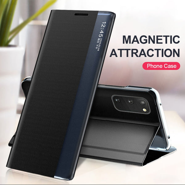 Smart View Window Magnetic Leather Flip Case for Samsung Galaxy S20 Fe Ultra Plus