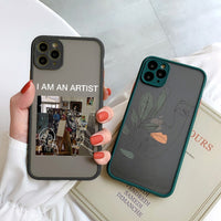Cute Art Retro Abstract Geometry Anti fall Cover Phone Case For iPhone 11 Series