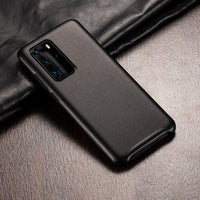 Business Plain Leather Case For Huawei P40 Series Global Version