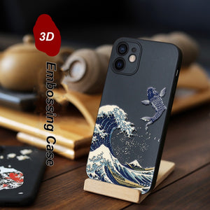 3D Art Relief Matte Soft Back Cover Case for iPhone 12 Pro Max 3