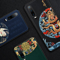 Emboss Leather Huawei P30 Case