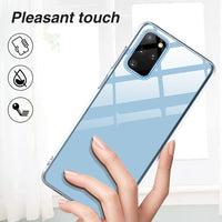 Transparent Ultra Thin Clear Soft TPU Cover Phone Case For Samsung S20 Series