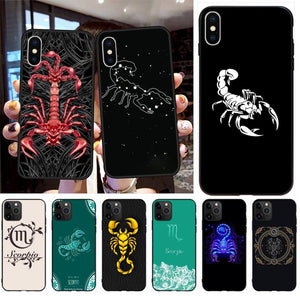 12 Constellations Scorpio Zodiac Signs Phone Case Cover for iPhone 11 & Iphone X Series