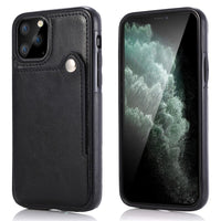 Vintage PU Leather Flip Case Card Slot Back Cover For iPhone 11 Series