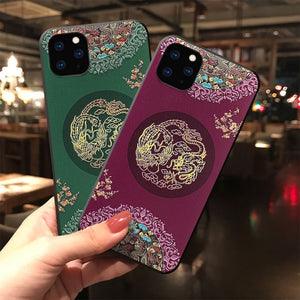 Embossed 3D Antiquity Style Shockproof Cover Case for iPhone 12 Pro Max 3