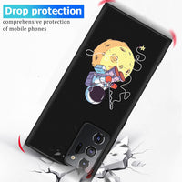 Lovely Space Pattern Painted Silicone TPU Waterproof Case for Samsung Note 20 Series