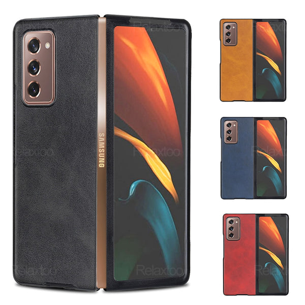 Luxury Foldable Leather Back Cover Case For Samsung Galaxy Z Fold 2 & Z Flip 1