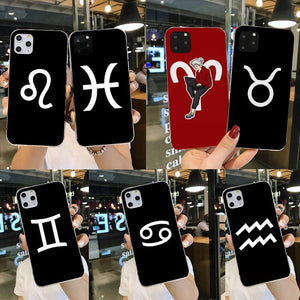 Zodiac Sign 12 Constellation DIY Luxury Phone Case for iPhone 11 Series