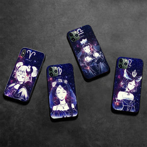 12 Constellations Zodiac Art Signs Luxury Phone Case for iPhone 11 & iPhone X Series