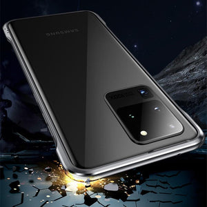 Metal Frame Luminous Shockproof Aluminum Bumper Protect Cover for Samsung S20 Series