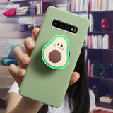 3D Luxury Cute Cartoon Fruit Avocado Soft Silicone Phone Case For Samsung S20 Series