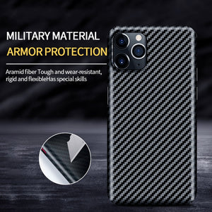 Real Pure Carbon Fiber Phone Back Cover Ultra Thin Anti Fall Case for iPhone 11 & 12 Series