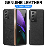 Genuine Leather Heavy Duty Protection Cover Case for Samsung Fold Series