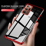 Luxury Plating Sillicone Cover Clear Case For Samsung Galaxy Note 20 Series 1