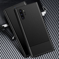 Soft TPU Carbon Fiber Ultra Thin Silicone Case for Samsung Note 10