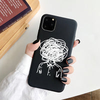 Fashion Soft TPU Painted Waterproof Phone Case For iPhone 11 Series