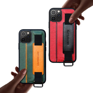 Case for iPhone 12 11 Pro Max XS X XR Max 8 7 6 S Plus SE 2020 PU Leather Bracket Wristband Card Holder Full Cover Lanyard Shell
