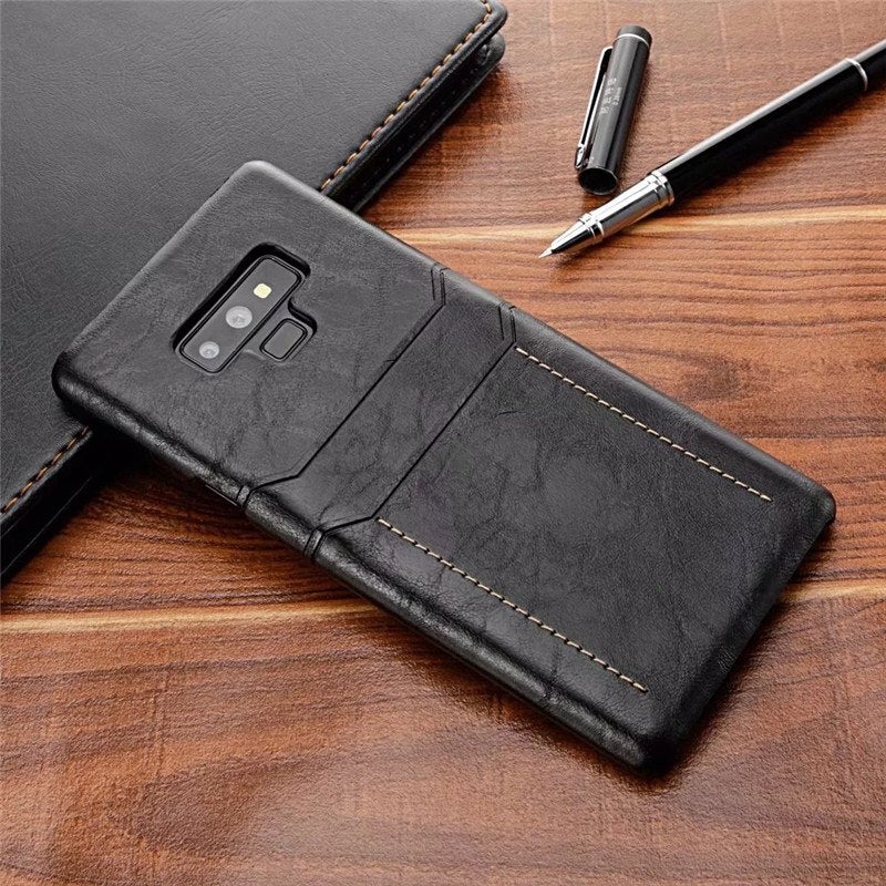sale retailer d3b04 bcd27 Case For Samsung Galaxy Note 9 Note 8 Galaxy S9 S9 Plus Case Cover Leather  Luxury