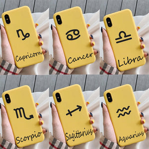 Luxury 12 Constellation Zodiac Signs Soft Silicone Case For iPhone 11 Series
