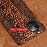 Luxury Genuine Cowhide Leather Phone Case For iPhone 12 Series