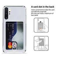Luxury Crystal Clear Card Slot Soft Silicone Case For Samsung Galaxy S20 Series