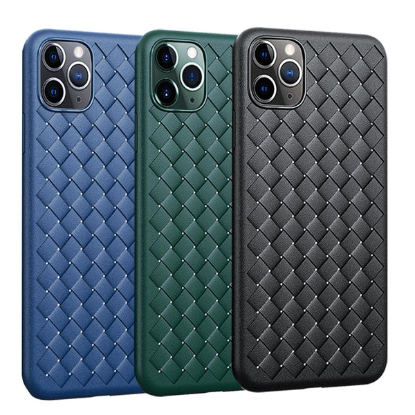 For iPhone 12 11 11 Pro 11Pro Max Phone Case fashion Woven Pattern Leather Case For iPhone 11 Pro Max 12 Pro Max