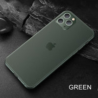 Ultra Thin Matte PP Plastic Hard Soft Shockproof Case For iPhone 11 Series