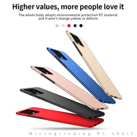 Slim Hard PC Case Matte Armor Plastic Hard Protective Back Cover for Galaxy Note20 Series