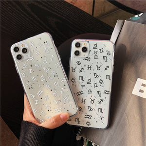Simple Signs Of The Zodiac Transparent Soft Case for iPhone 11 & iPhone 12 Series