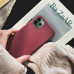 Soft Matte Silicone Slim Protective Back Cover Case for iphone 12 | 12 Pro | 12 Pro Max