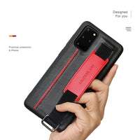PU Leather Bracket Wristband Hand Strap Card Holder Case for Samsung Galaxy Note 20 Ultra S20 Ultra S20 Plus