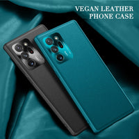 Soft Vegan Leather Hard Cover Phone Case for Samsung Galaxy Note 20 Series