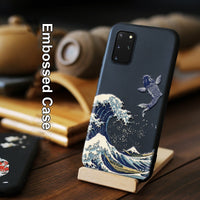 3D Art Relief Embossing Matte Soft Cover Case for Samsung Galaxy S20 Ultra