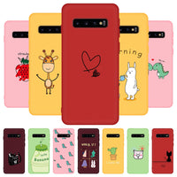 Cartoon Patterned TPU Soft Silicone Heavy Duty Protection Case For Samsung S20 Series