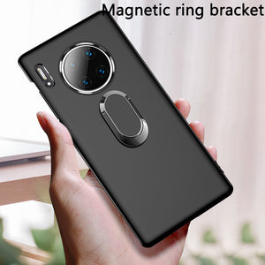 Magnetic Car Holder Case Finger Ring Holder Matte Soft Cover for Huawei Mate 30 Pro 30 20