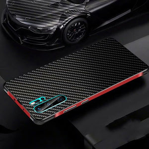 Carbon Fiber Back + Metal Frame Bumper Case for Huawei P30 Pro P30 Lite