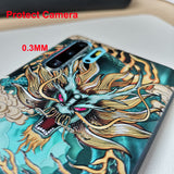 Embossed 3D Relief Soft Silicon Shockproof Cover Case with Lanyard Ring for Samsung Galaxy Note 10 Plus S10 S10e