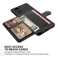 PU Leather Flip Credit Card Wallet Hard Back Cover For Samsung Galaxy Note 10 Plus Note 10