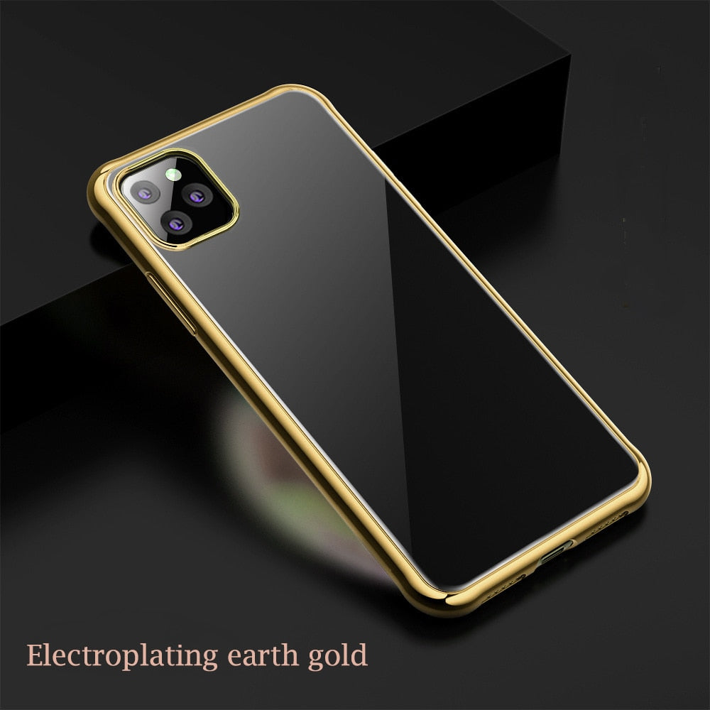 7 Color Electroplated Anti Knock Back Case For iPhone 11 Pro Max