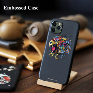 New 3D Relief Embossed Tiger Carp Fish Case for iPhone 11 Pro/Max
