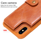 For iPhone X XR XS Max Flip Leather Wallet Phone Case with Handle