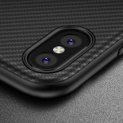 competitive price c96b6 41884 Carbon Fiber Skin Case For iPhone X XS XR Max