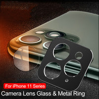 Back Camera Lens Tempered Glass Screen Protector Ring Cover For iPhone 11 Pro Max XS XR X