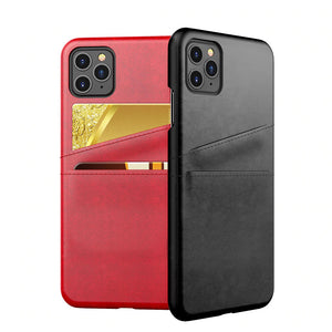 New PU Leather Phone Case with Wallet Card Slots Back Cover For iPhone 11 Pro Max