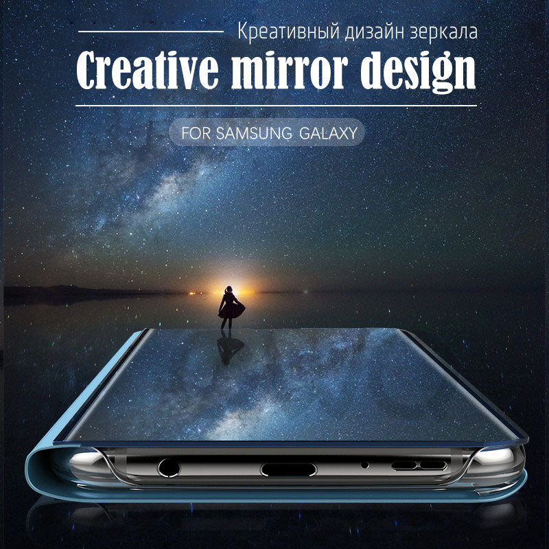 Luxury Magic Mirror Smart View Case For Samsung Galaxy Note