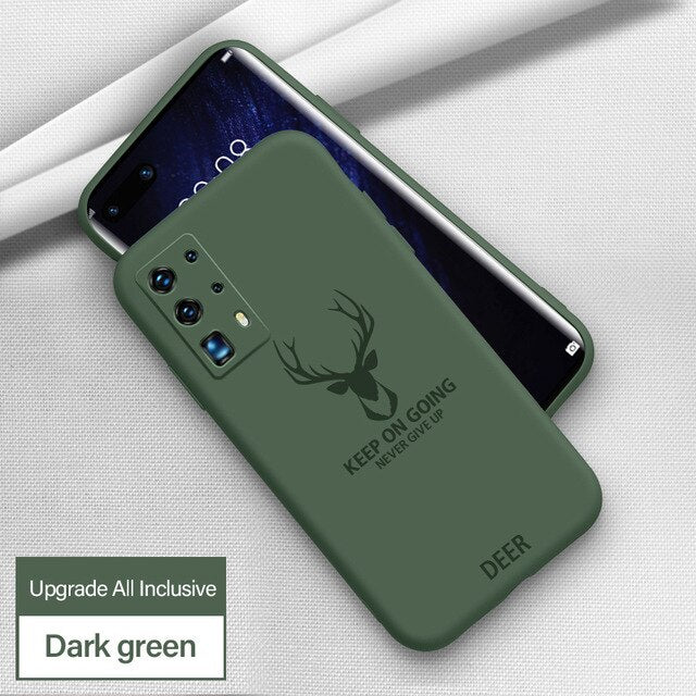 Luxury Painted Ultra-thin Silicone Shockproof Case For Huawei Smartphone Series