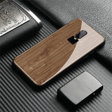 Wood Texture Tempered Glass Phone Case For One Plus 6 6T 7 7Pro