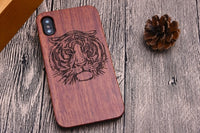 Natural Laser Carving Wooden Phone Case For iPhone 12 Series