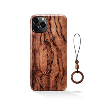100% Natural Real Wood Bamboo Hard Slim Wooden Case for iPhone 12 Series