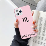 Zodiac Sign Candy Soft Silicone Phone Cover Case For iPhone 11 & iPhone X Series